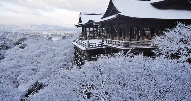 清水寺の冬の写真